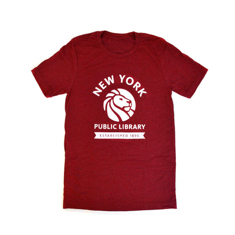 Red NYPL 1895 T-shirt - The New York Public Library Shop