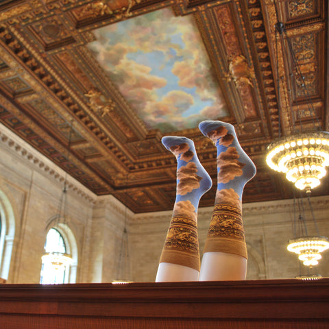 Rose Main Reading Room Ceiling Socks - The New York Public Library Shop