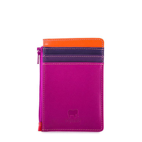 Credit Card Holder with Zipper: Sangria Mywalit