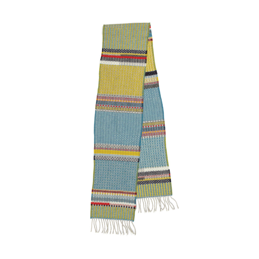 Lambswool Meadow Scarf: Blue