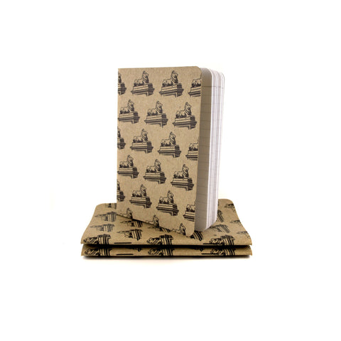 Lion Notebooks Set of 3 - The New York Public Library Shop