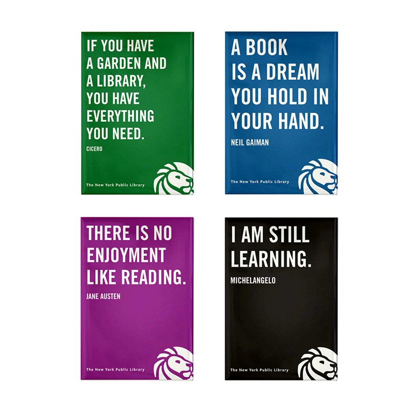 NYPL Quote Magnet Set - The New York Public Library Shop