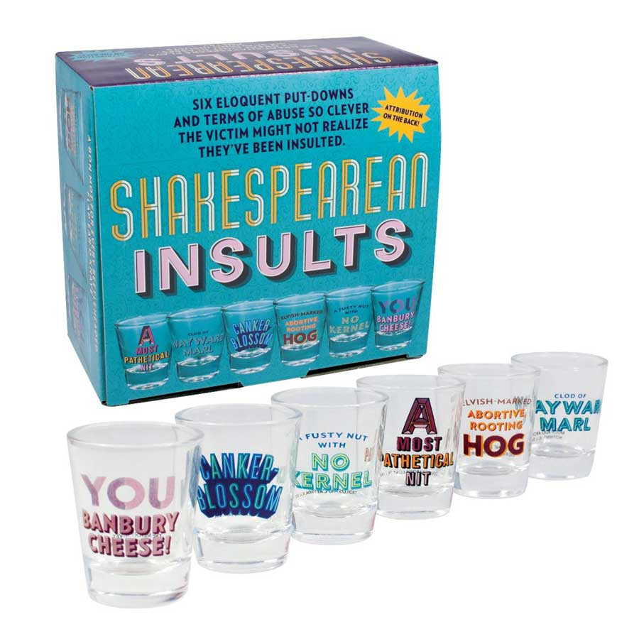 Shakespearean Insults Shot Glass Set - The New York Public Library Shop