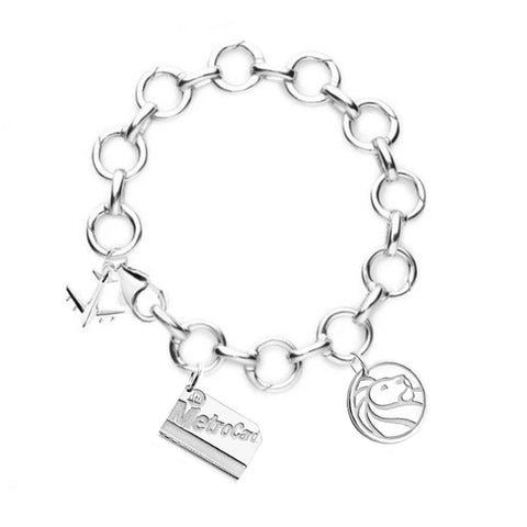 NYPL and NYC Silver Infinity Charm Bracelet