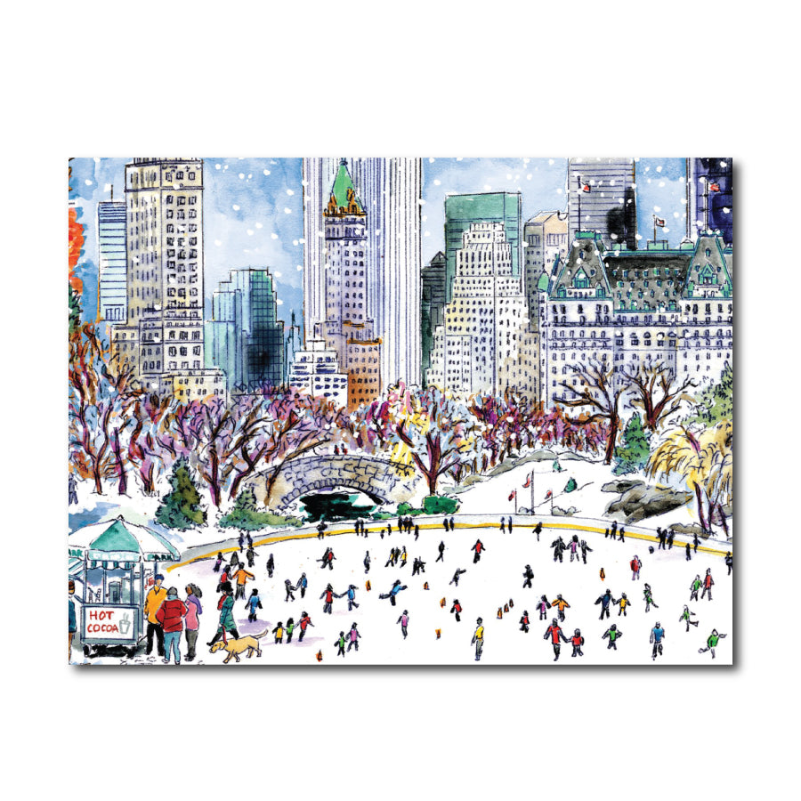 Central Park Skating Embellished Card Set
