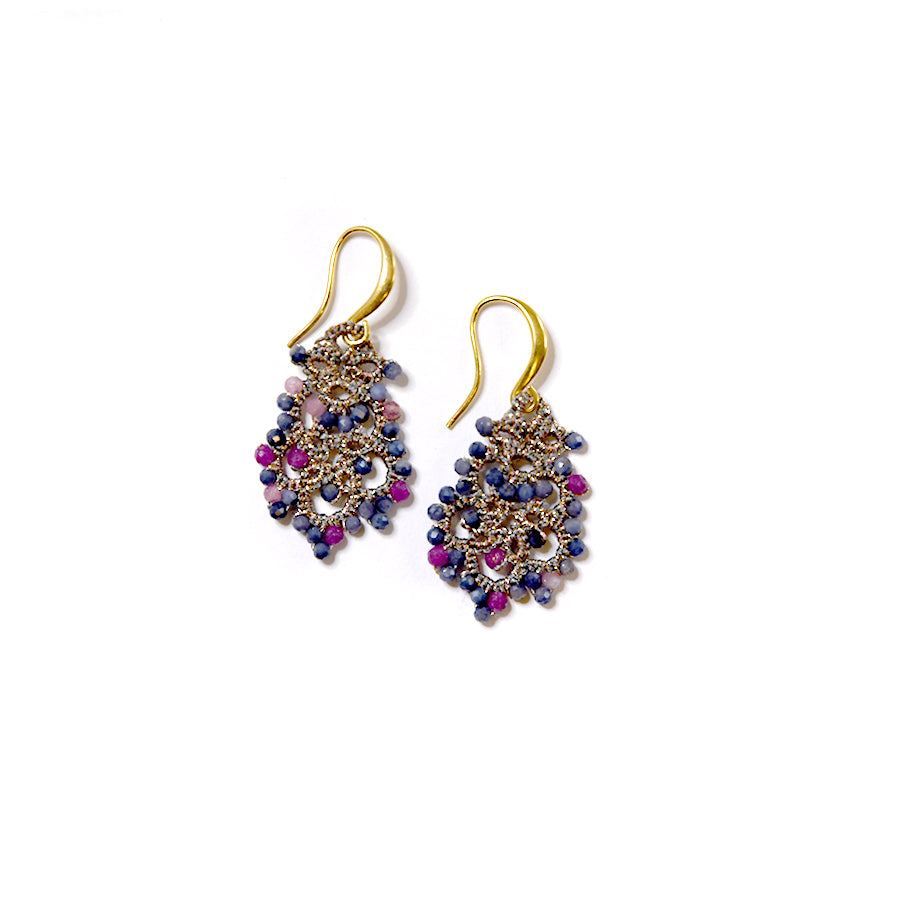 Lace Earrings: Donna in Tourmaline