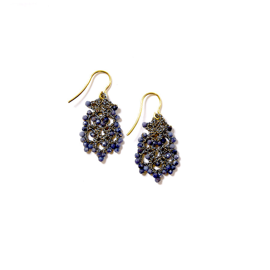 Lace Earrings: Donna in Sapphire