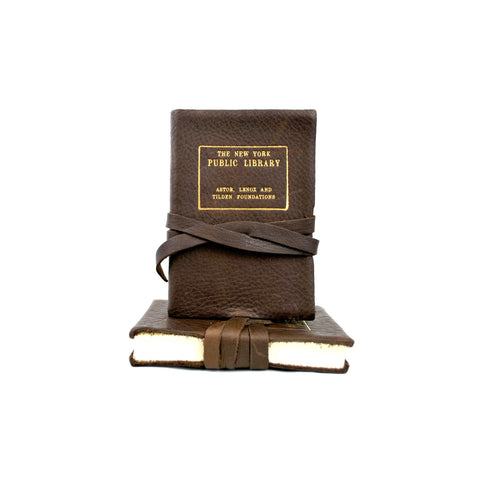 Leather NYPL Stamp Journal - The New York Public Library Shop