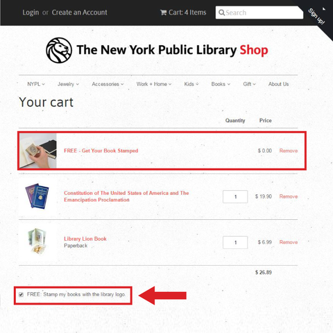 Get Your Book Stamped for Free - Only purchased BOOKS will be stamped. - The New York Public Library Shop