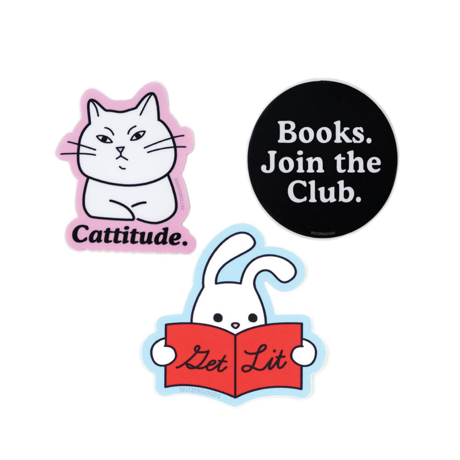 Book Lover Sticker Set