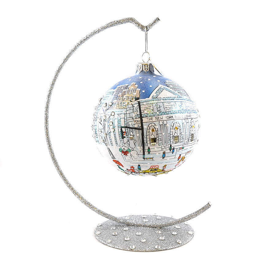 Hand Painted NYPL Michael Storrings Ornament
