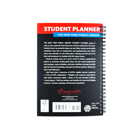 The New York Public Library 2016- 2017 Student Planner - The New York Public Library Shop