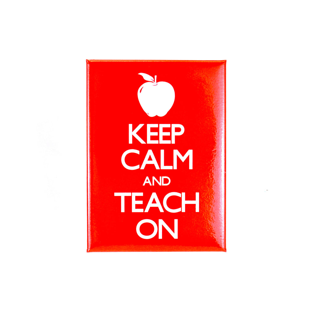 Keep Calm and Teach On Magnet - The New York Public Library Shop