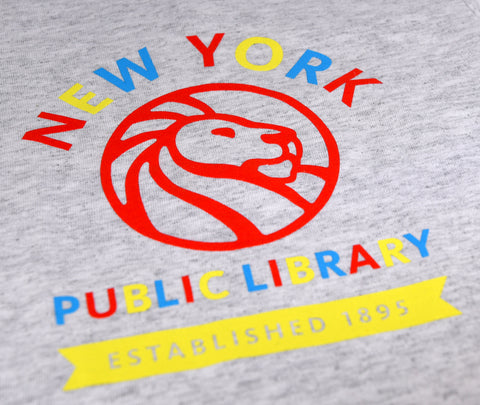 "Text reads ""New York Public Library. Established 1895"""