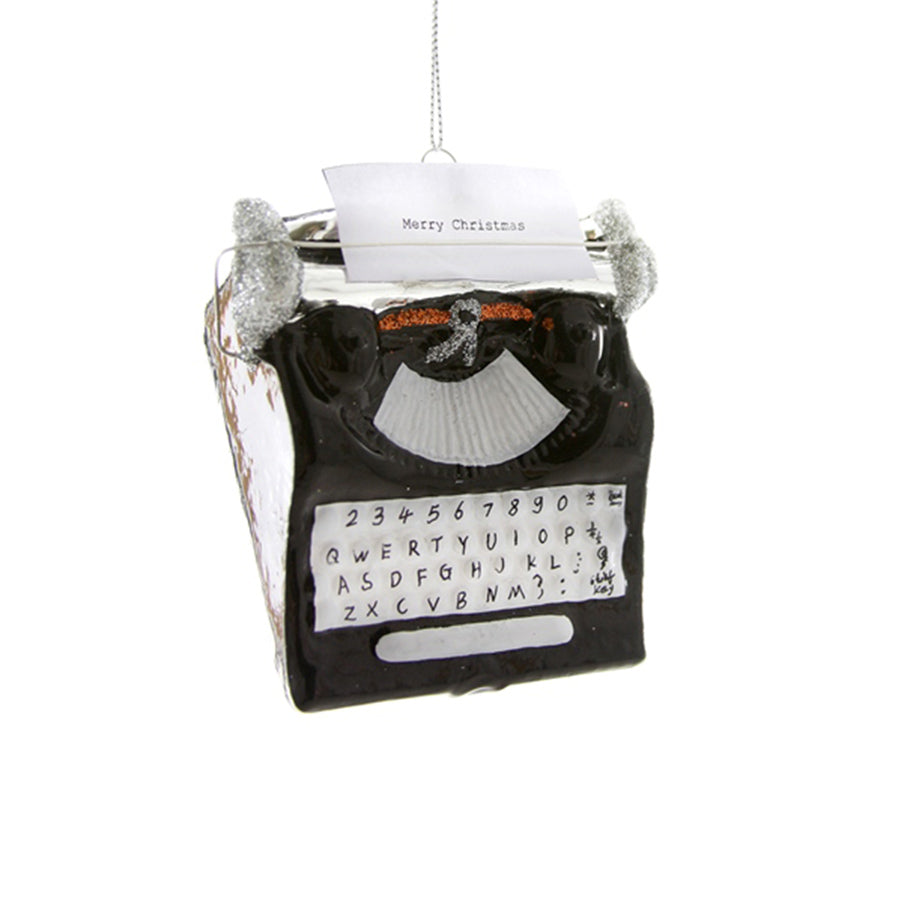 Glass Typewriter Ornament