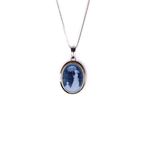 Woman with a Parasol by Monet Cameo Necklace