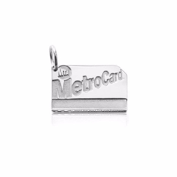Silver Metro Card Charm - The New York Public Library Shop