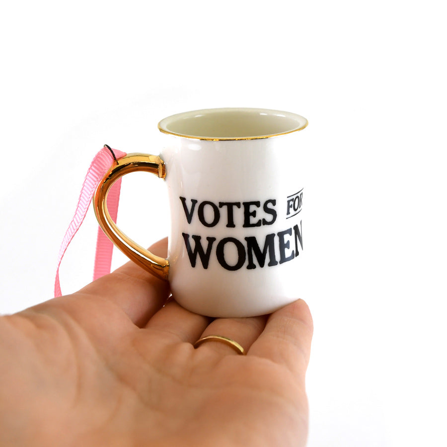Votes For Women Mini Mug Ornament