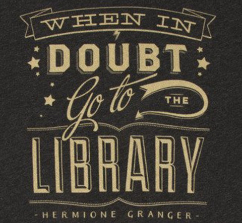 When in Doubt Go to the Library Ladies T-Shirt