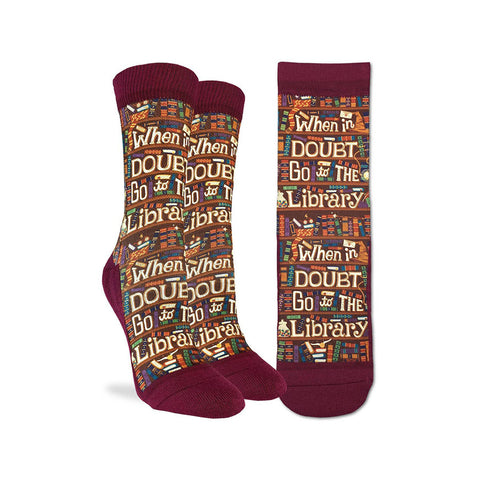 When in Doubt go to the Library Socks