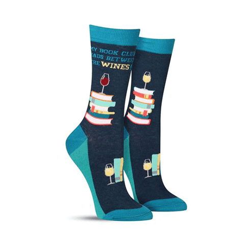 Book Club Wine Socks