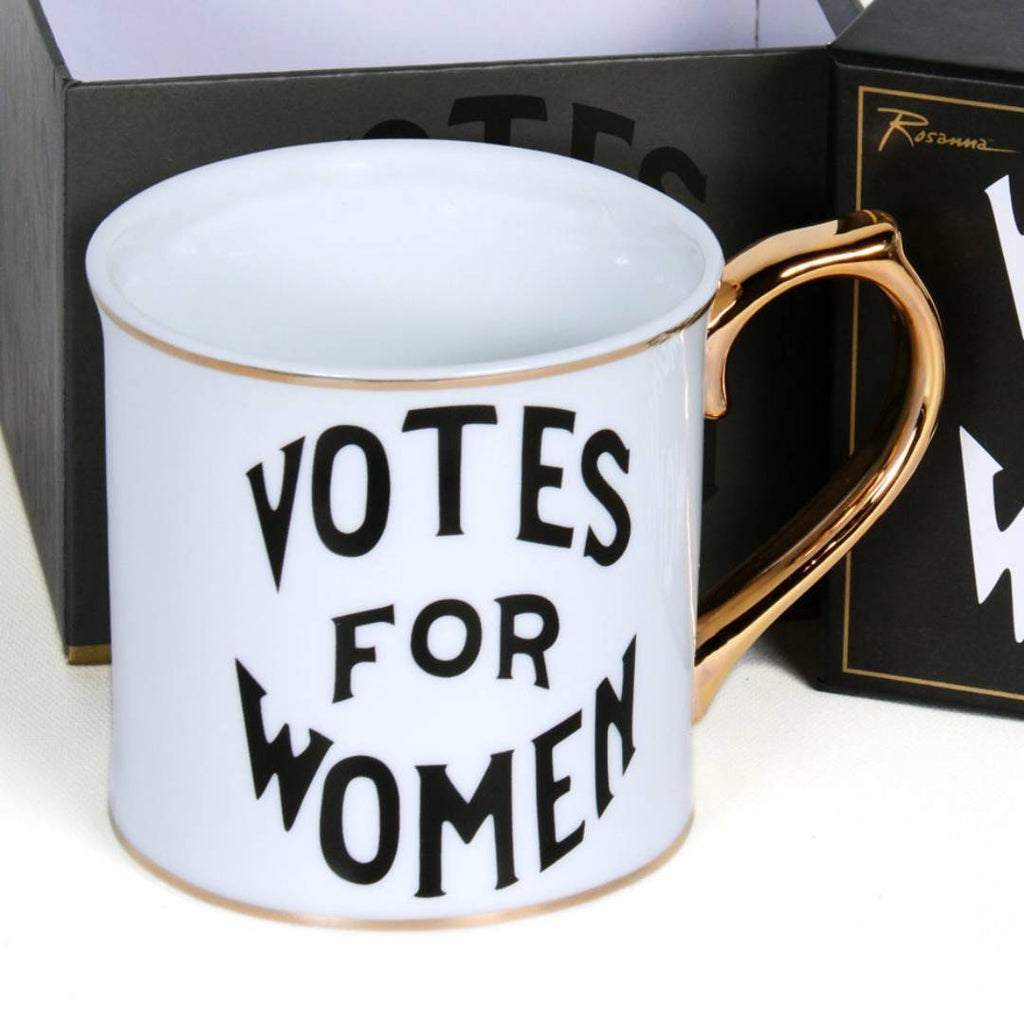 Votes For Women Mug with gold handle