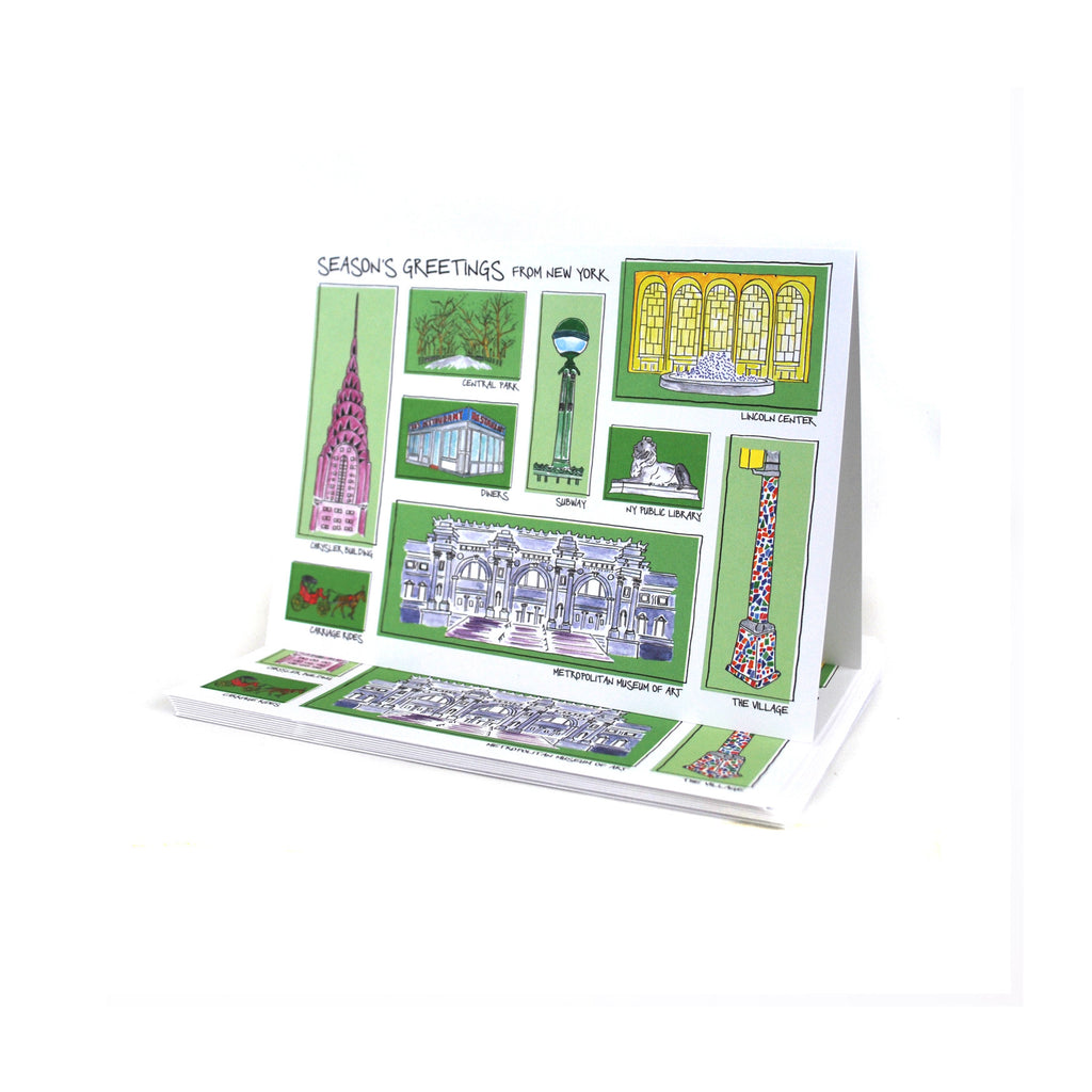 New York City Landmarks Holiday Card Set - The New York Public Library Shop