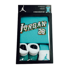 Jordan Baby Clothes 3 piece Set Teal Jordan 23 Size 0 6 Months