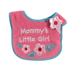 Luvable Friends Animal Applique Side Closure Baby Bib