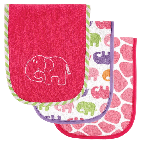 Luvable Friends Safari Themed Burp Cloths 3 Pack