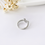 Steaming Coffee Cup Ring - 925 Sterling Silver - Owl J  - 6