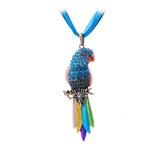 Retro Rhinestone Parrot Necklace - Owl J  - 10