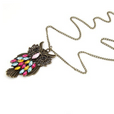 Vintage Retro Owl Pendant Necklace - Owl J  - 2