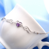 Purple Angel Wings Bracelet - Owl J  - 2