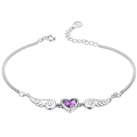 Purple Angel Wings Bracelet - Owl J  - 1