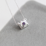 Dainty Camera Necklace  - 925 Sterling Silver - Owl J  - 2