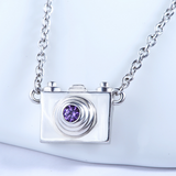 Dainty Camera Necklace  - 925 Sterling Silver - Owl J  - 4