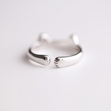 Cute Cat Paws Ring - 925 Sterling Silver - Owl J  - 5