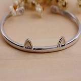 Cute Cat Paws Bangle - 925 Sterling Silver - Owl J  - 4