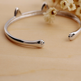 Cute Cat Paws Bangle - 925 Sterling Silver - Owl J  - 2