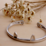 Cute Cat Paws Bangle - 925 Sterling Silver - Owl J  - 3