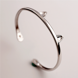 Cute Cat Paws Bangle - 925 Sterling Silver - Owl J  - 5