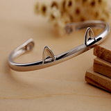 Cute Cat Paws Bangle - 925 Sterling Silver - Owl J  - 1