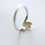 Lovely Cat Tail Ring - 925 Sterling Silver - Owl J  - 3