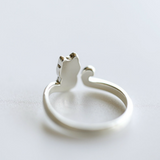 Lovely Cat Tail Ring - 925 Sterling Silver - Owl J  - 2
