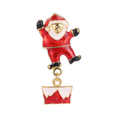 Gold Plated Christmas Snowman and Santa Brooches - Owl J  - 4