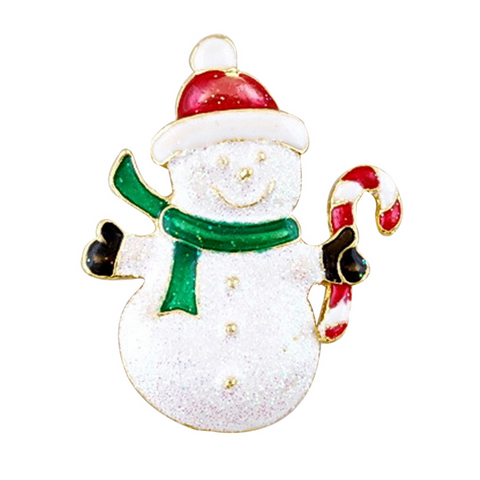 Gold Plated Christmas Snowman and Santa Brooches - Owl J  - 5