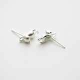 Climbing Cat Earrings - 925 Sterling Silver - Owl J  - 3
