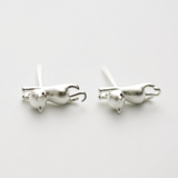 Climbing Cat Earrings - 925 Sterling Silver - Owl J  - 1