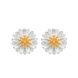 Daisy Earrings  - 925 Sterling Silver - Owl J  - 2